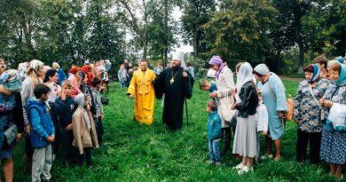 Божественная литургия под открытым небом